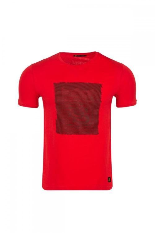Bisiklet Yakalı Önü Sivasspor Baskılı T-shirt
