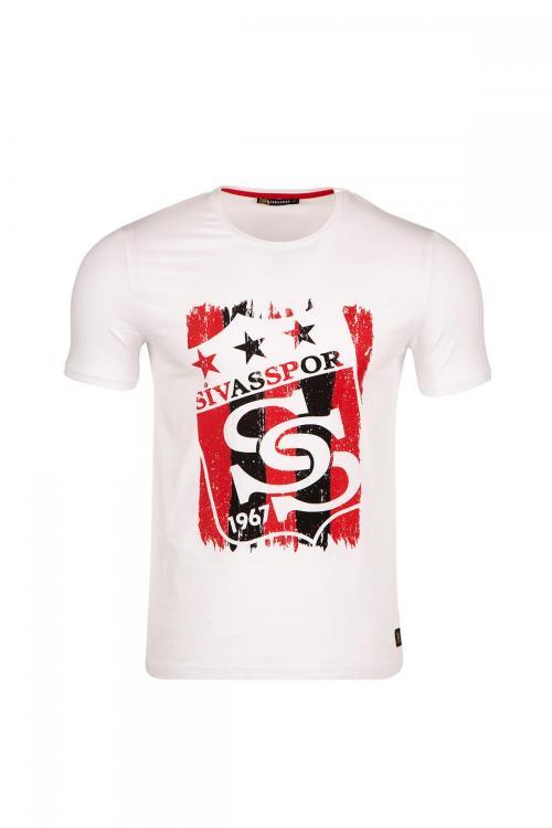 Bisiklet Yakalı Sivasspor 3 Yıldız Baskılı T-shirt