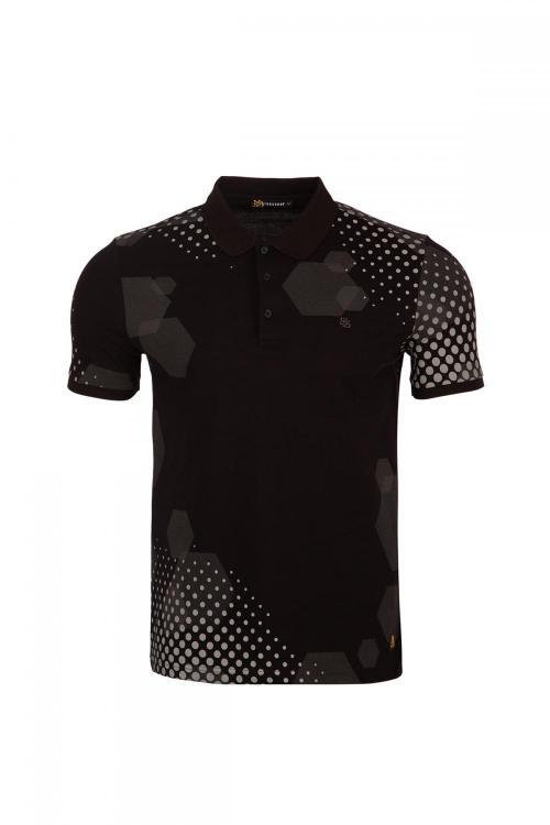 Polo Yaka CR Baskılı T-Shirt