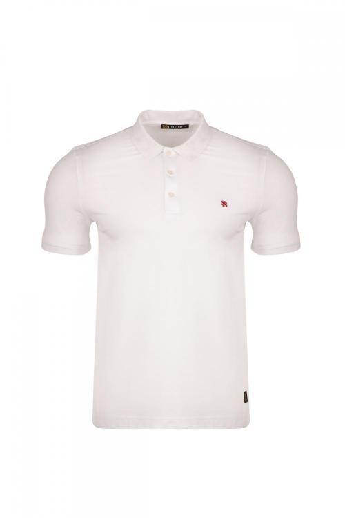 Polo Yaka Yaka SS Baskılı T-shirt